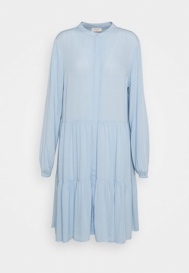 FQFLOW SOLID - Shirt dress - chambray blue