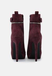 Even&Odd - LEATHER - Kotníková obuv na vysokém podpatku - bordeaux - 3