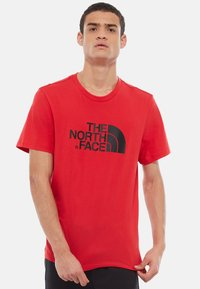 The North Face - M S/S EASY TEE - EU - T-shirt med print - salsa red - 0
