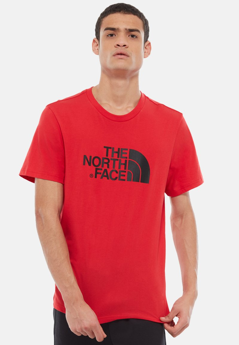 The North Face - M S/S EASY TEE - EU - T-shirt med print - salsa red
