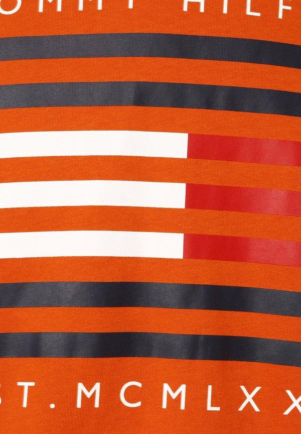 Tommy Hilfiger T-shirt z nadrukiem - orange/pomarańczowy Odzież Męska MBTS