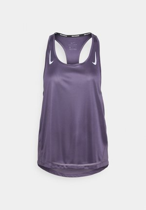 MILER TANK RACER - Sports shirt - dark raisin/silver