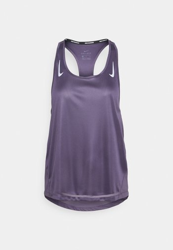 MILER TANK RACER - Sports shirt - dark raisin/silver