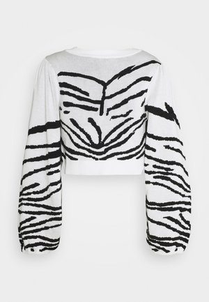 IDOL ZEBRA PUFF SLEEVE CROP - Jumper - mono