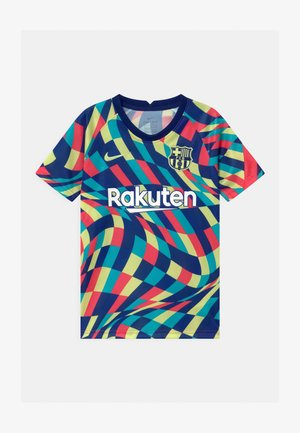 FC BARCELONA UNISEX - Print T-shirt - blue void/limelight