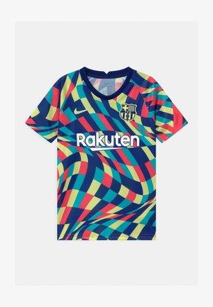 FC BARCELONA UNISEX - T-Shirt print - blue void/limelight