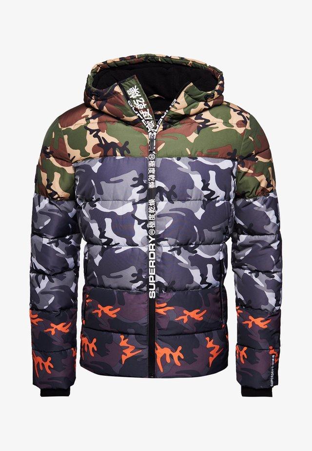 Winter jacket - black camo