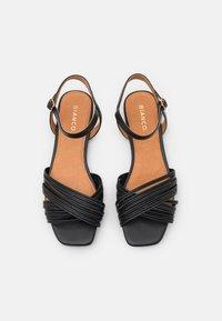 Bianco - BIADELORA THIN STRAP  - Sandals - black - 5