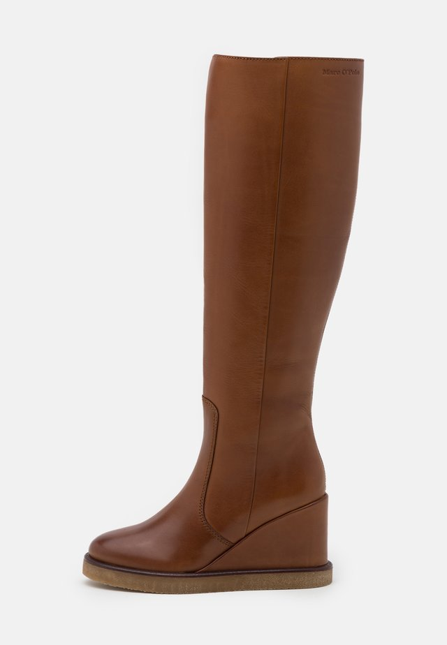 CELINA  - High heeled boots - cognac