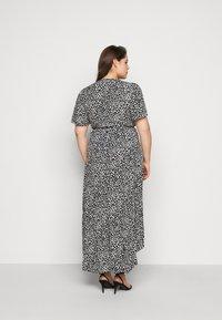 Missguided Plus - HIGH LOW MIDI DRESS DALMATIAN - Maxi dress - black - 2