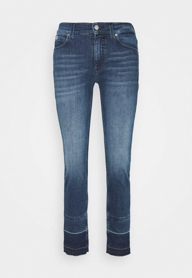 MID RISE ANKLE PANT - Jeans slim fit - rachel mid blue