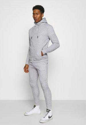 LANISTERC - Sweat à capuche zippé - light grey marl