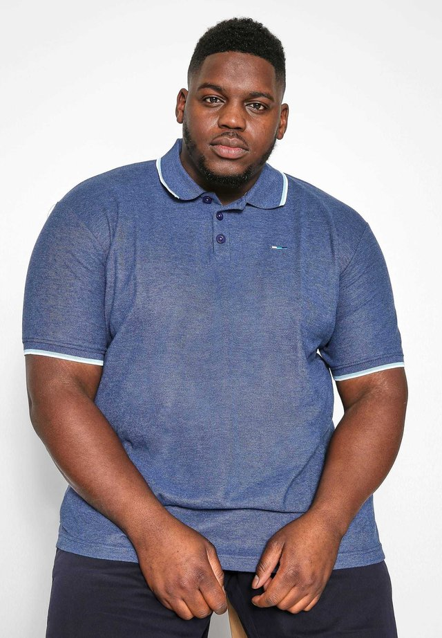 MARL TIPPED - Polo shirt - blue