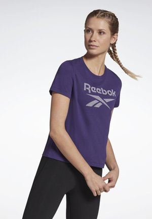 WORKOUT READY SUPREMIUM BIG LOGO T-SHIRT - Print T-shirt - purple