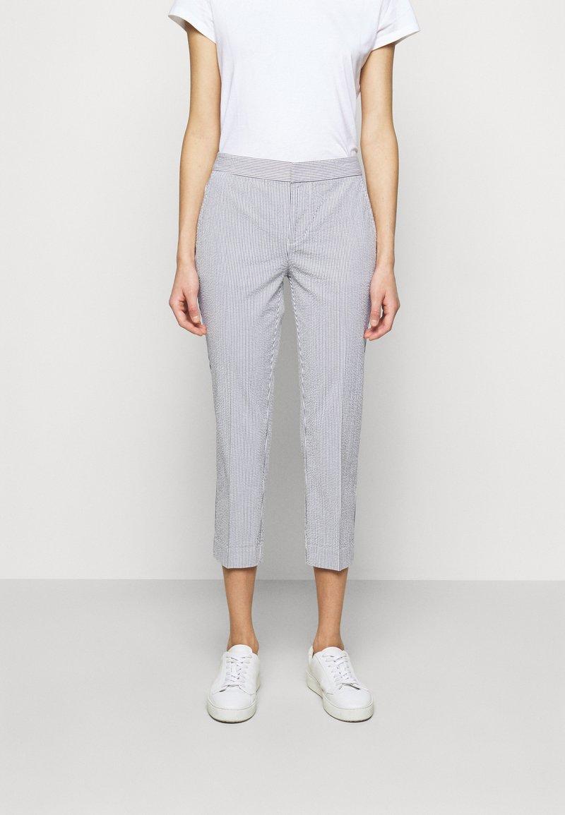 Lauren Ralph Lauren - SEERSUCKER PANT - Trousers - navy/white