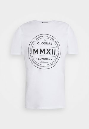 LOGO EMBLEM TEA - T-shirt print - white