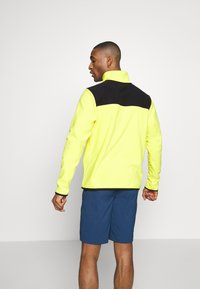 The North Face - MENS GLACIER SNAP NECK - Sweat polaire - lemon/black - 2