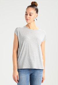 Vero Moda - VMAVA PLAIN - T-shirt basic - light grey melange - 0