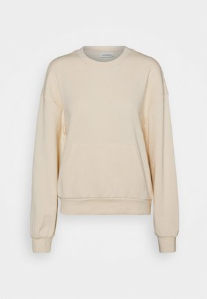 Loose crew neck with pocket - Mikina - off-white