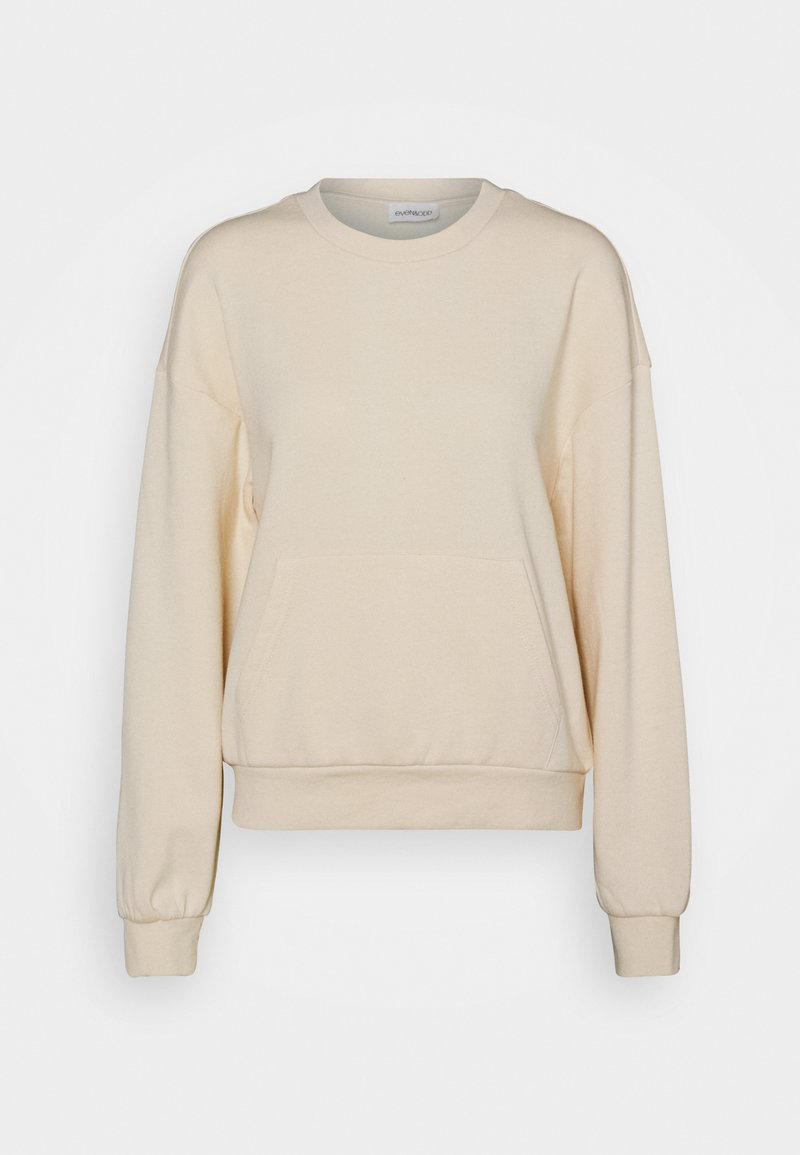 Even&Odd - Loose crew neck with pocket - Sweatshirt - off-white