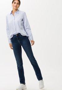 BRAX - STYLE MARY - Slim fit jeans - used dark blue - 1