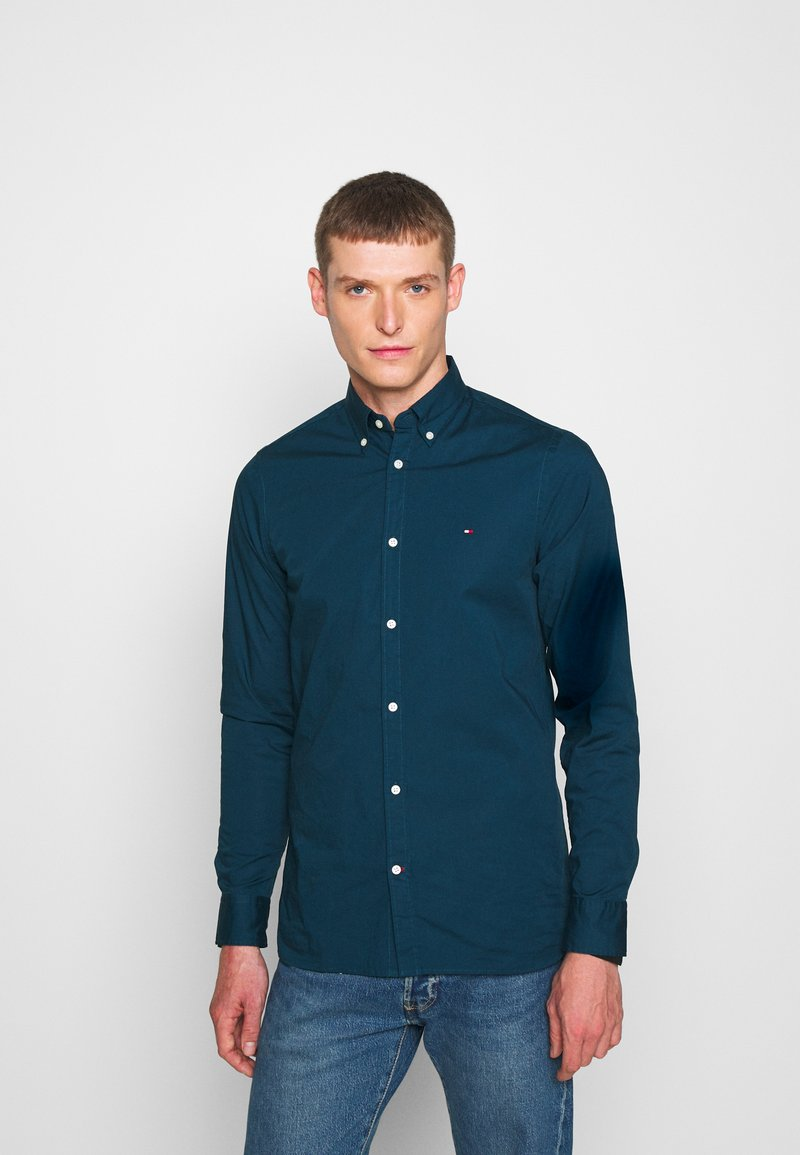 Tommy Hilfiger - SLIM STRETCH - Shirt - blue