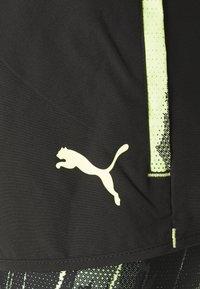 Puma - INDIVIDUAL CUP SHORTS - Pantalón corto de deporte - puma black/asphalt/soft fluo yellow - 2
