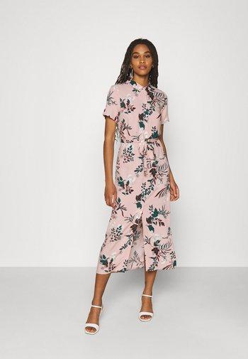 VMSIMPLY EASY LONG SHIRT - Shirt dress - misty rose