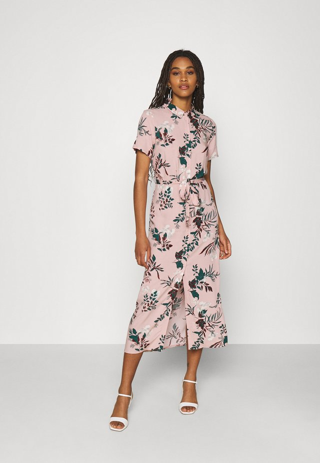 VMSIMPLY EASY LONG SHIRT - Skjortekjole - misty rose