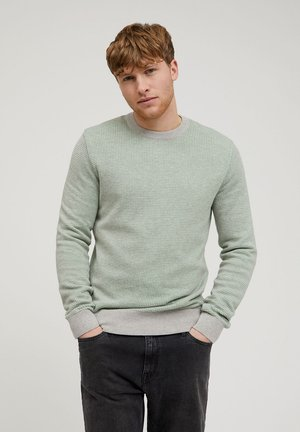 Jumper - grey melange-misty grass