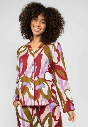 Pyjamashirt - peach floral