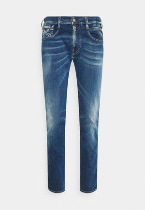 ANBASS HYPERFLEX REUSED X LITE - Vaqueros slim fit - medium blue