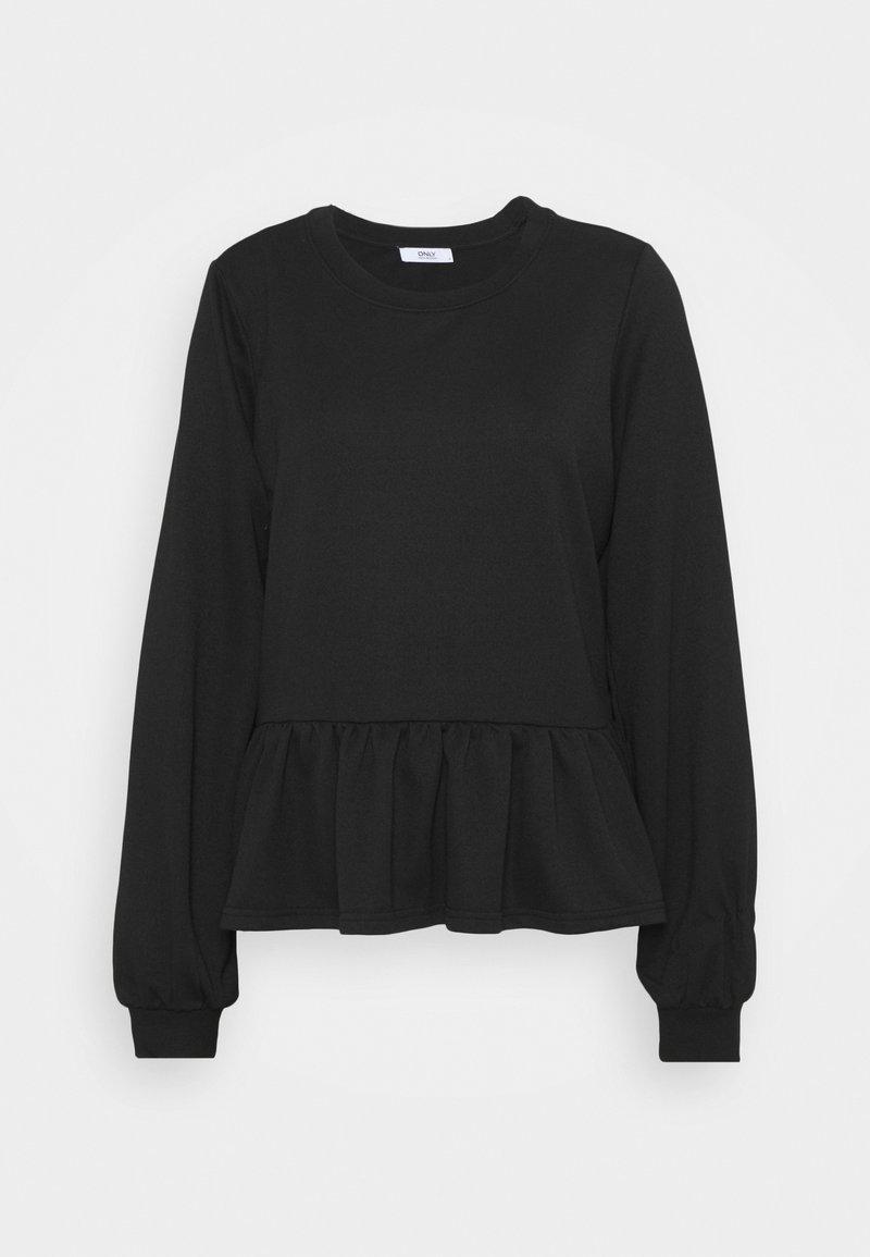 ONLY Tall - ONLAMY FLOUNCE TALL - Sweatshirt - black