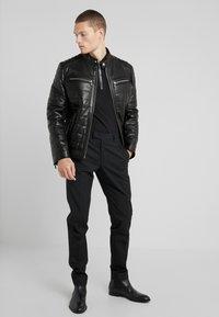 KARL LAGERFELD - BIKER JACKET - Leather jacket - black - 1