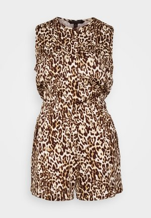 UTILITY LEOPARD ROMPER - Overal - neutral