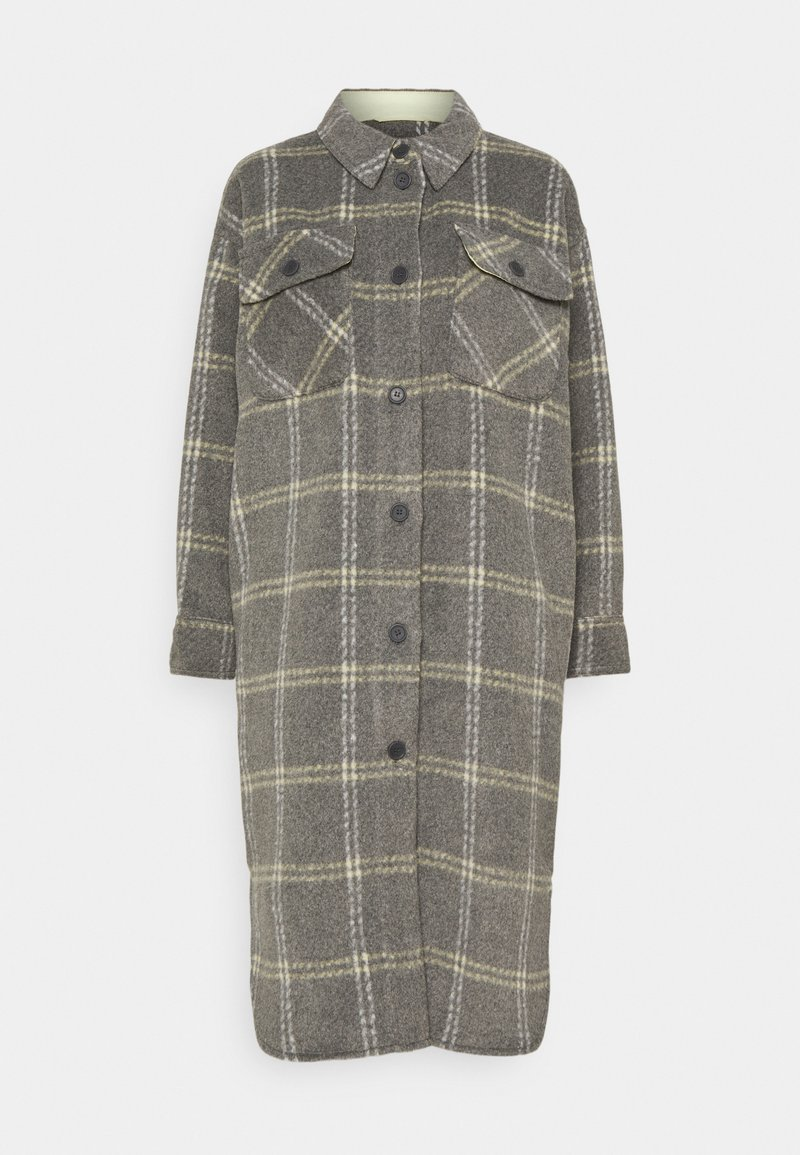 Moss Copenhagen - KASSIDY - Klasický kabát - mottled grey
