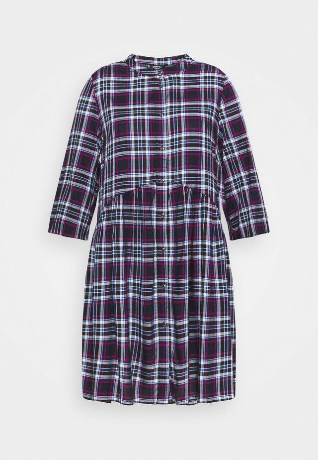 ELIZABETH BUTTON THROUGH SHIRT DRESS - Shirt dress - dark blue