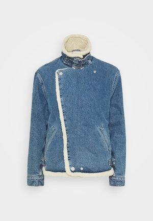 MOTO JACKET - Džínová bunda - mid blue
