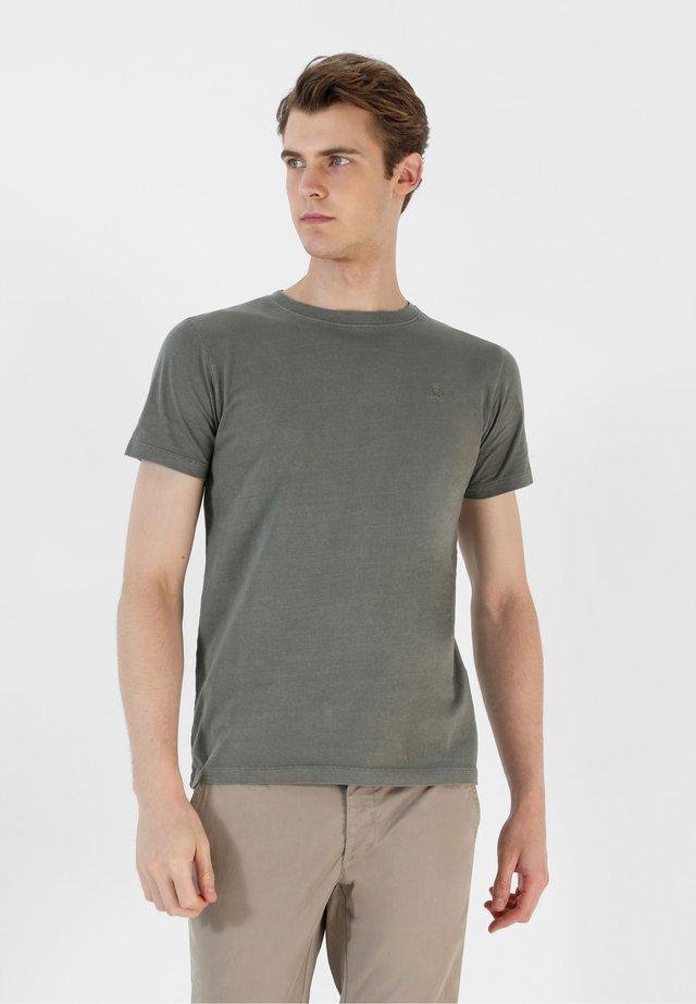 SKULL TEE - T-shirt basic - khaki