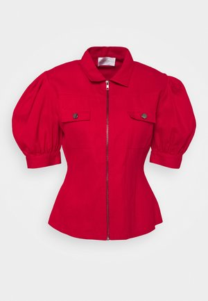 TYLER - Button-down blouse - red