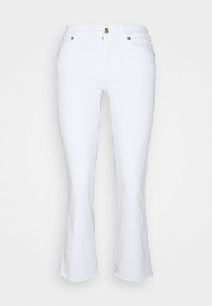 CROPPED BOOT - Bootcut jeans - white