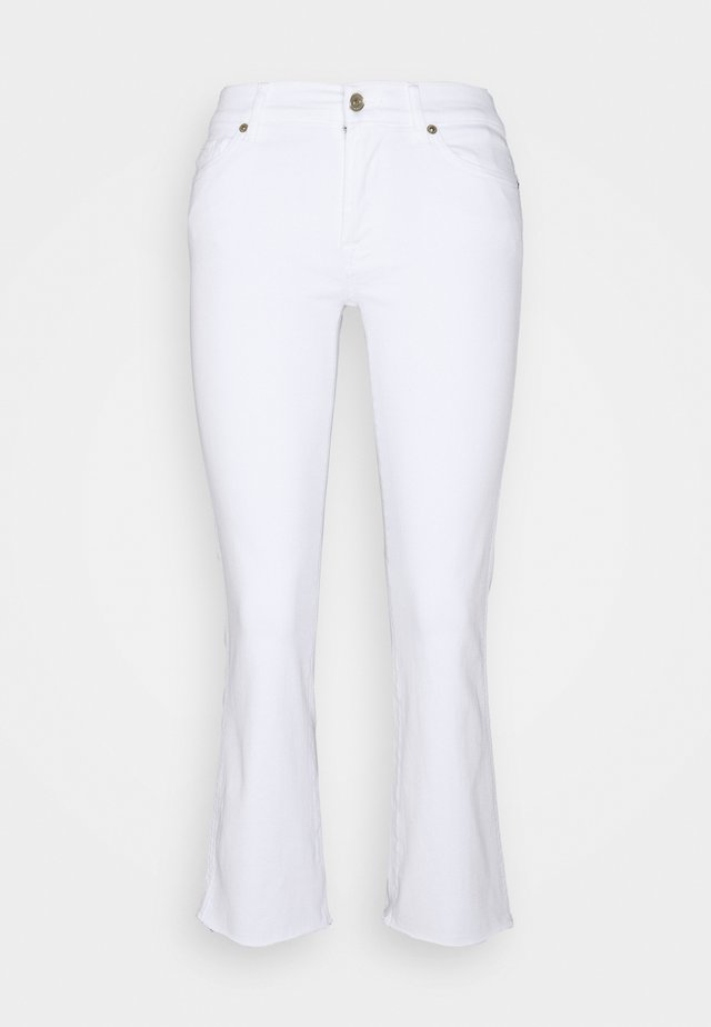 CROPPED BOOT - Jeans bootcut - white