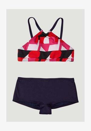 CALI HOLIDAY SET - Bikini - blue with red