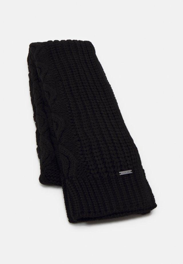SHAKER CABLE MUFFLER UNISEX - Sjaal - black