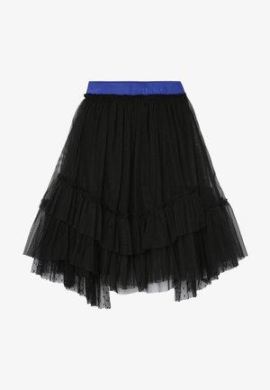 BAMBINAIA GONNA PLUMETIS - Spódnica trapezowa - black
