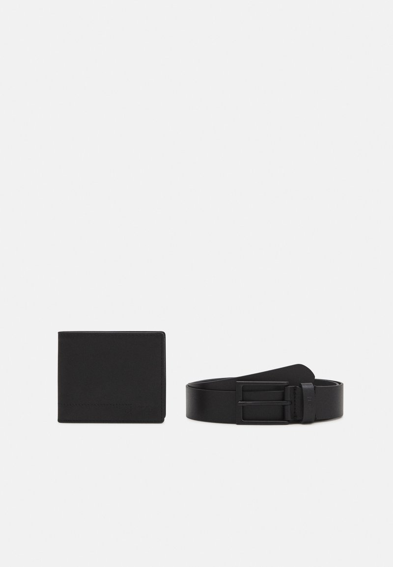 Zign - LEATHER SET WALLET & BELT  - Peněženka - black