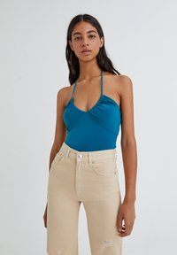 PULL&BEAR - Top - turquoise - 0