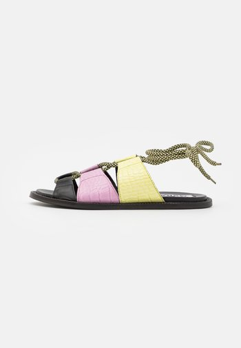 SIMS - Sandals - black/summer pear/orchid