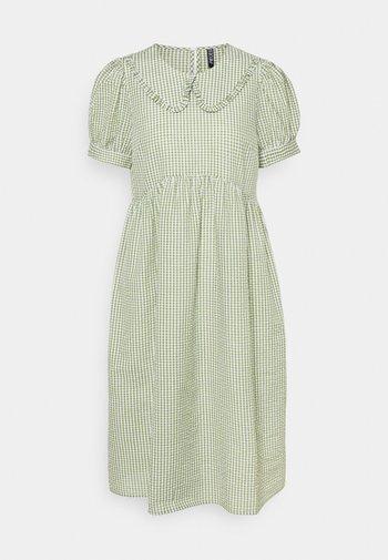 PCIDA MIDI DRESS - Shirt dress - bright white/turtle green
