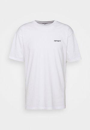 SCRIPT EMBROIDERY - Camiseta básica - white/black